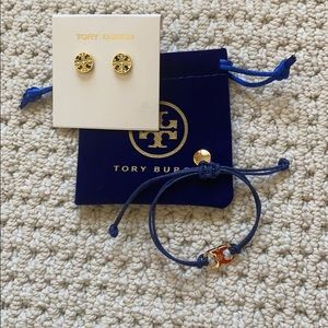 NEW: 2 items Tory Burch enamel stud/bracelet